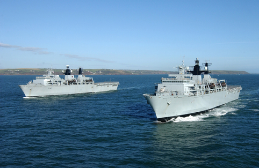 Naval vessels photo by Plymouth Evening Herald